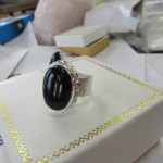 Jewellery - black onyx silver ring