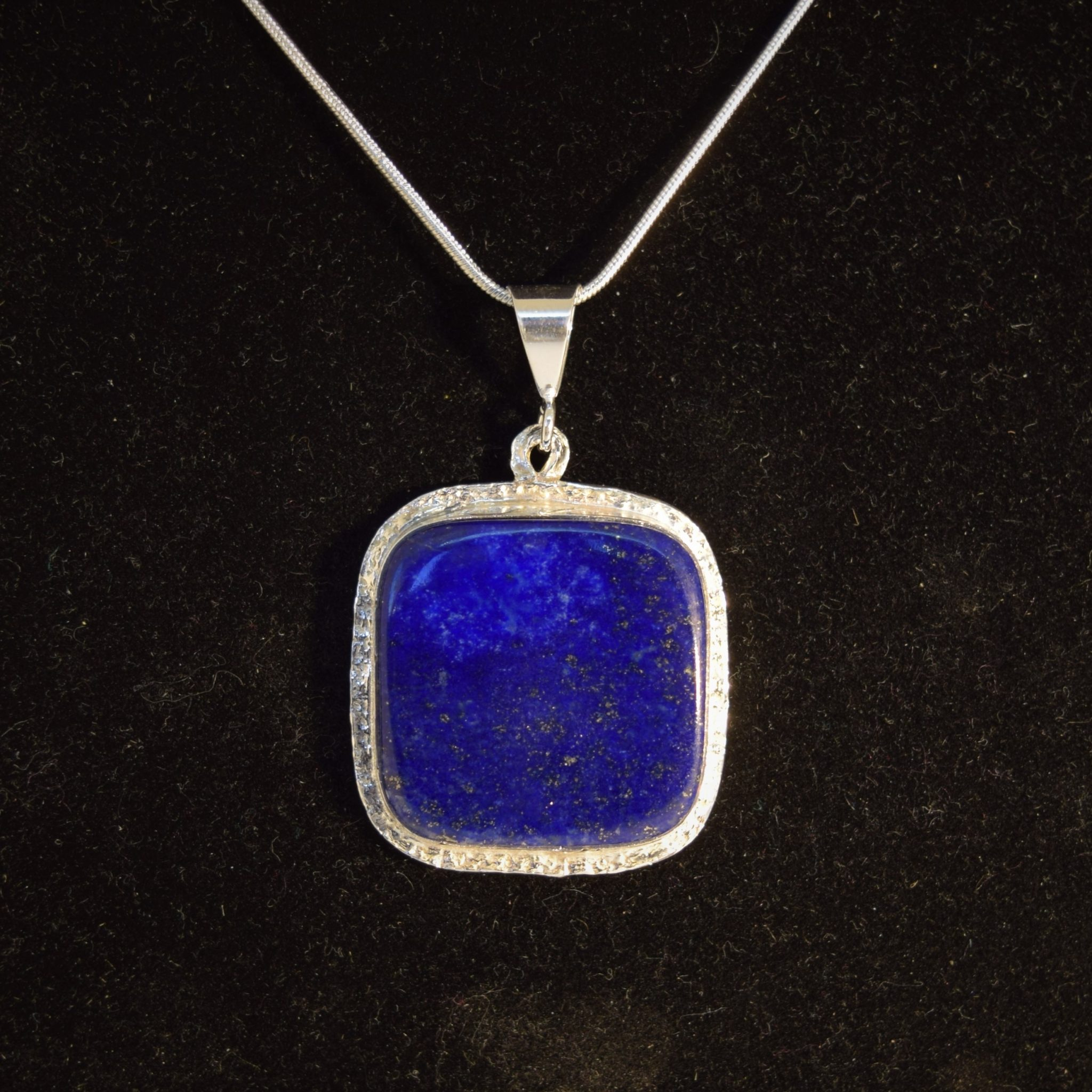 sterling lapis store pendant double necklace silver denim ring