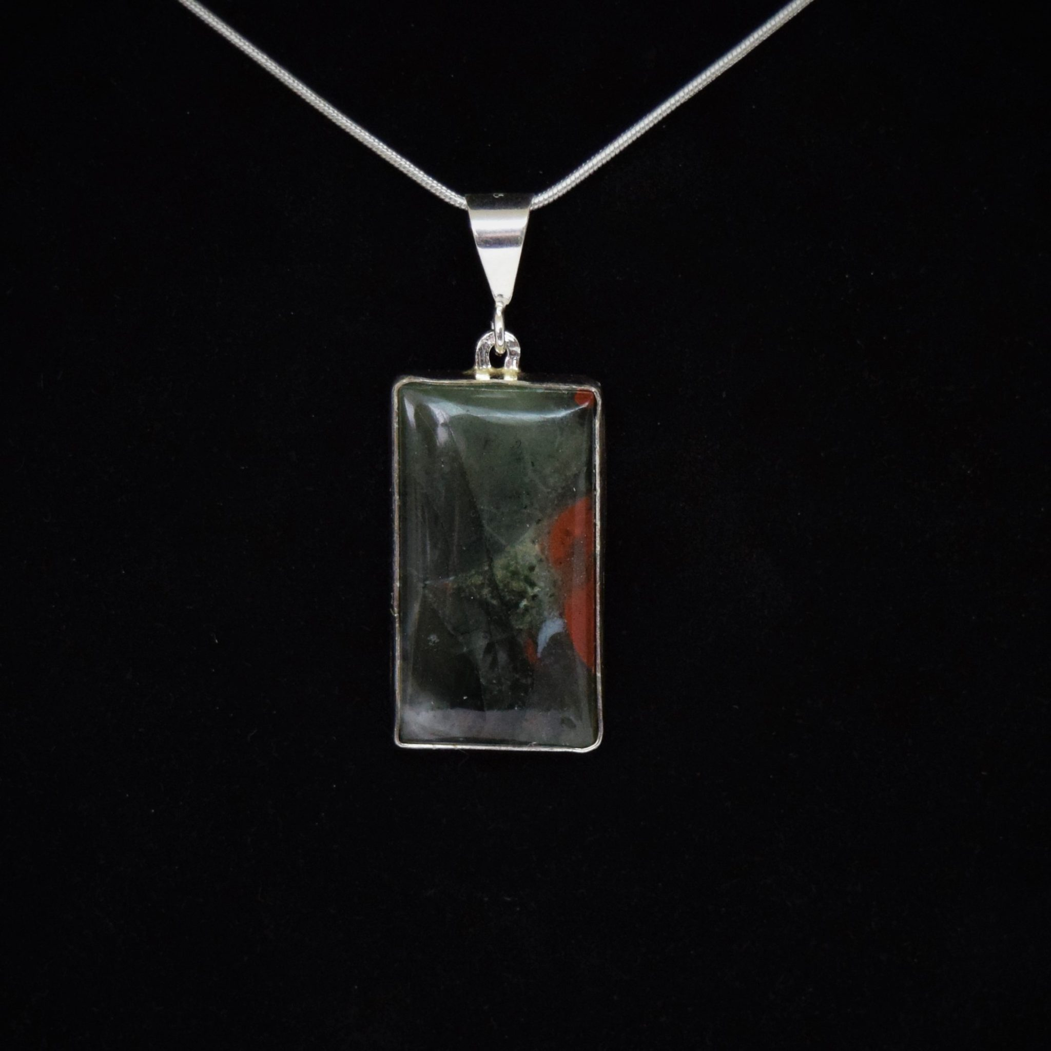 Rectangle bloodstone pendant shoreline rectangle bloodstone pendant mozeypictures Image collections