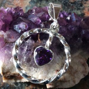 Jewellery - amethyst pendant 65 plus tax