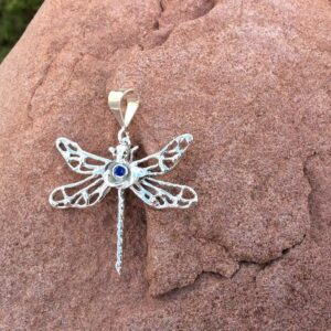 Jewellery - birthstone dragonfly with rose