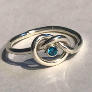 Jewellery - Birthstone knot ring