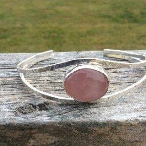 Jewellery - bracelet bangle with rose quartz