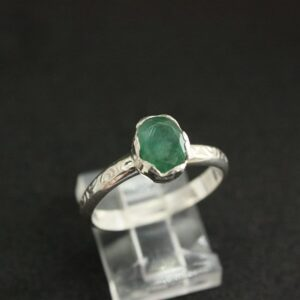 Rings-Sterling Silver-real Emeral, Ruby and Sapphire - emerald ring 10