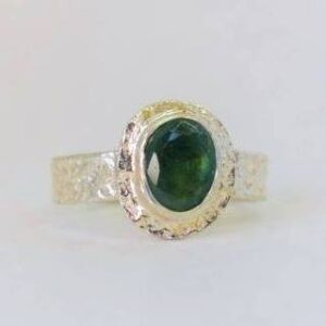 Rings-Sterling Silver-real Emeral, Ruby and Sapphire - emerald ring 2