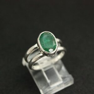 Rings-Sterling Silver-real Emeral, Ruby and Sapphire - emerald ring 3