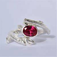 Rings-Sterling Silver-real Emeral, Ruby and Sapphire - ruby 1