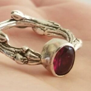 Rings-Sterling Silver-real Emeral, Ruby and Sapphire - ruby 2