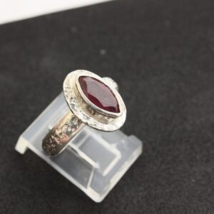 Rings-Sterling Silver-real Emeral, Ruby and Sapphire - ruby 4