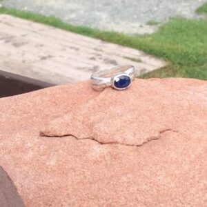 Rings-Sterling Silver-real Emeral, Ruby and Sapphire - saphire stone 3